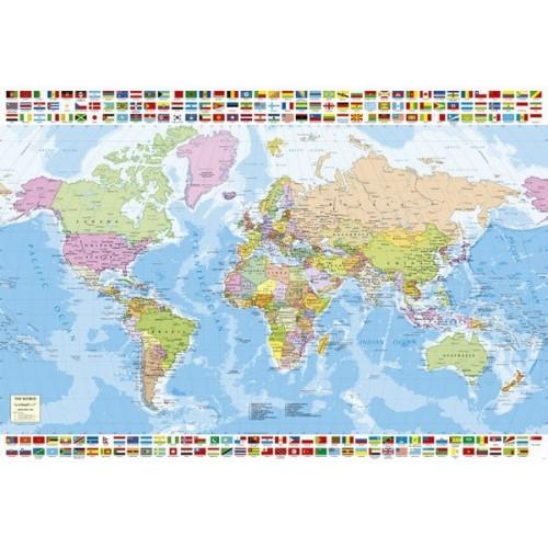 Political Worldmap, Educa Puzzle 1500 pc