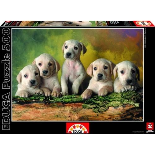 Labrador Kölykök, Educa Puzzle 500 db