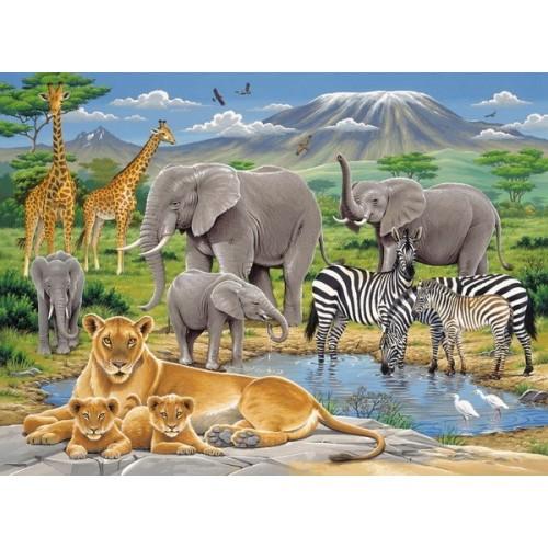 Animals in Africa, Ravensburger Puzzle 200 pcs XXL