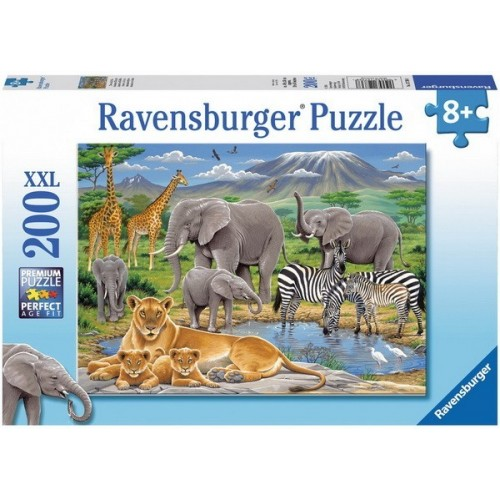 Animals in Africa, Ravensburger Puzzle 200 pcs XXL