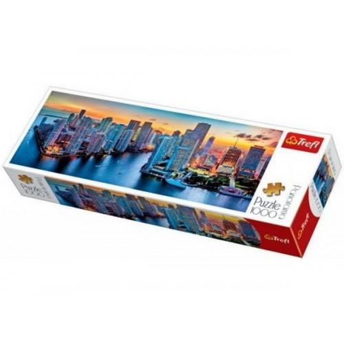 Miami After Dark, Trefl panorama Puzzle, 1000 pcs