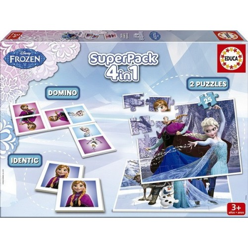 Frozen, Educa Superpack, 4 in 1 Game set