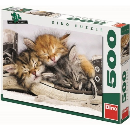 Sleeping kittens, Dino Puzzle 500 pcs
