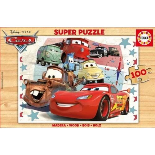 Cars - Walt Disney, Educa Wooden puzzle 100 pc
