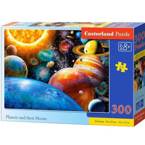 Planets and their Moons, Castorland Puzzle 300 pcs