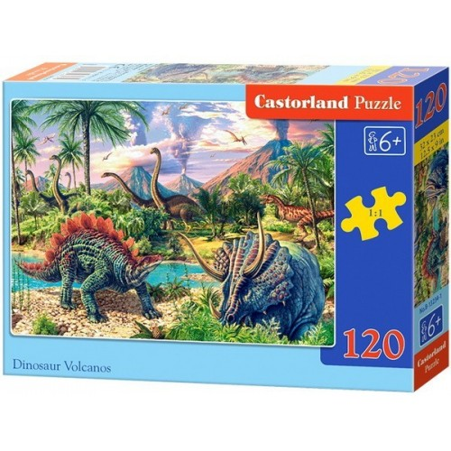 Dinoszauruszok a vulkánnál, Castorland puzzle 120db