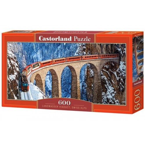 Landvasser viadukt - Svájc, 600 darabos Castorland panoráma puzzle