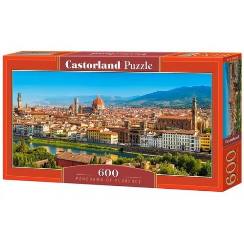 Firenzei panoráma, 600 darabos Castorland panoráma puzzle