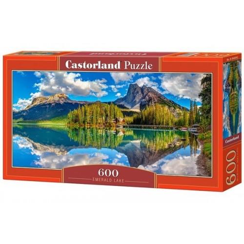 Smaragd tó - Kanada, 600 darabos Castorland panoráma puzzle