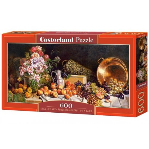 Still Life with Flowers and Fruit on a Table, Castorland panoramic puzzle 600 pcs