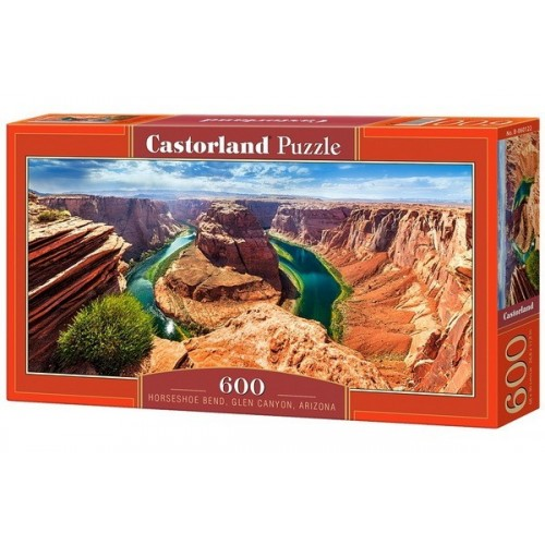 Horseshoe Bend - Glen Canyon, Castorland panoramic puzzle 600 pcs