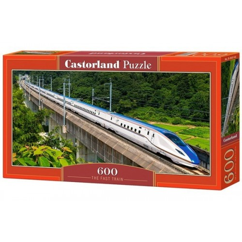 The Fast Train, Castorland panoramic puzzle 600 pcs