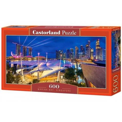 Marina Bay - Singapore, Castorland panoramic puzzle 600 pcs