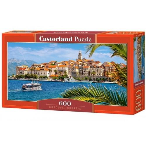 Korcula - Horvátország, 600 darabos Castorland panoráma puzzle