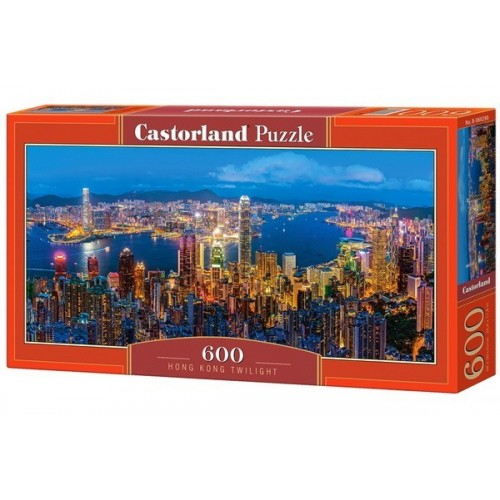 Hongkongi alkonyat, 600 darabos Castorland panoráma puzzle