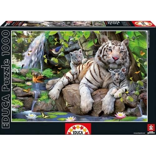 Bengáli fehér tigrisek, Educa Puzzle 1000 darabos kirakó