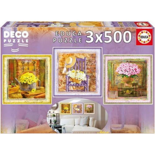 Bűbájos pillanatok, Educa 3x500 darabos Deco Puzzle