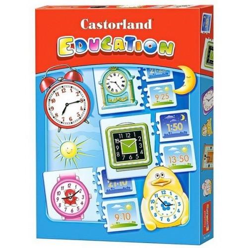 Óra kirakó - Castorland 48 darabos oktató puzzle
