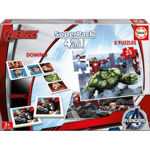 Avengers, Educa Superpack, 4 in 1 Game set