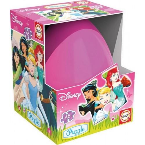 Disney Hercegnők, 48 darabos Educa puzzle tojásban