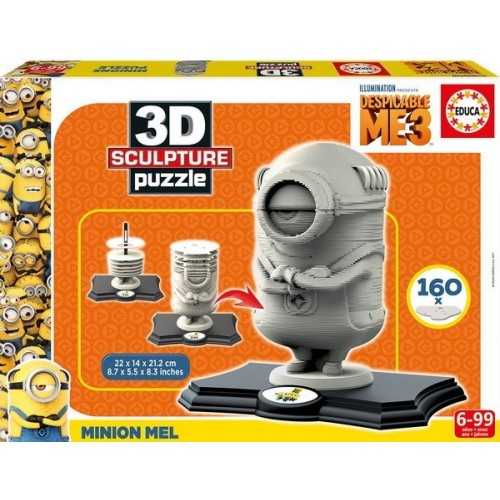 Minions, 3D Sculpture puzzle 160 pc