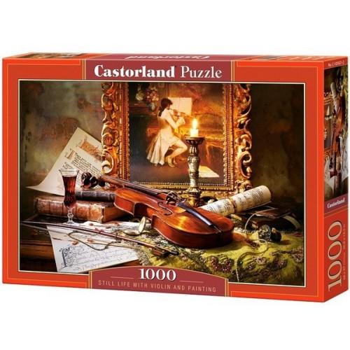 Csendélet hegedűvel, Castorland Puzzle 1000 db
