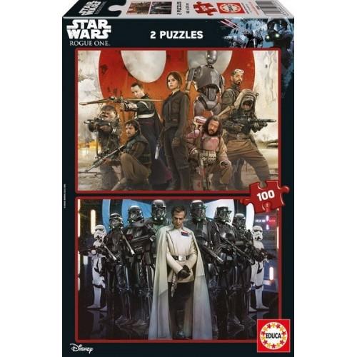 Star Wars - Zsivány Egyes, 2x100 darabos Educa puzzle