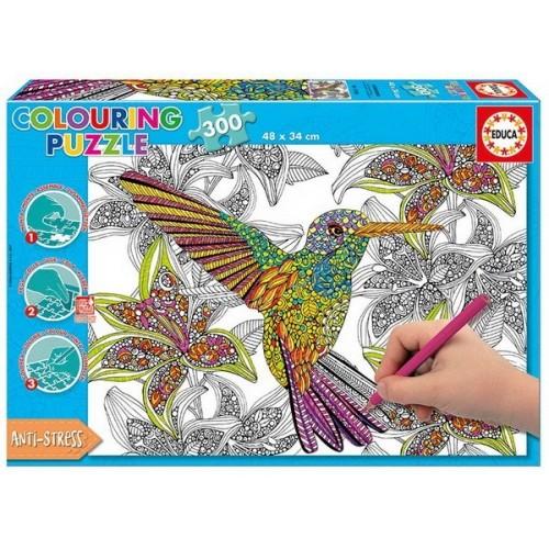 Hummingbird, Educa colouring puzzle 300 pc