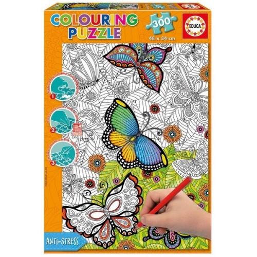 Butterflies, Educa colouring puzzle 300 pc