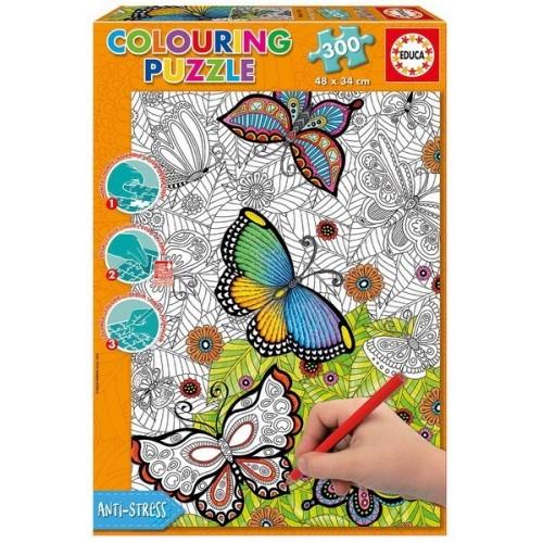 Pillangók, Educa 300 darabos színezhető puzzle