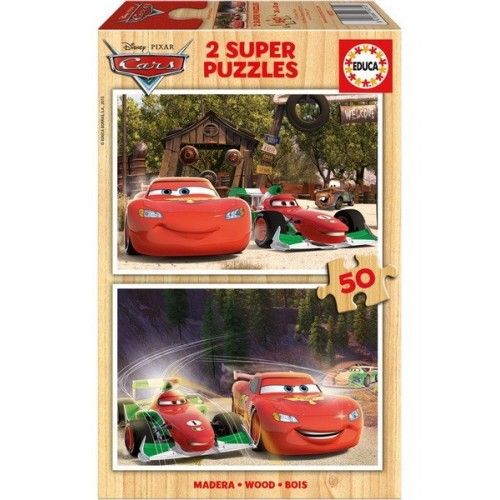 Cars, Educa wooden puzzle 2x50 pc