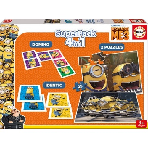 Minions, Educa Superpack, 4 in 1 Game set