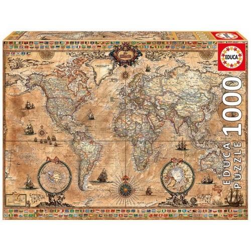 Antik világtérkép, Educa Puzzle 1000 db