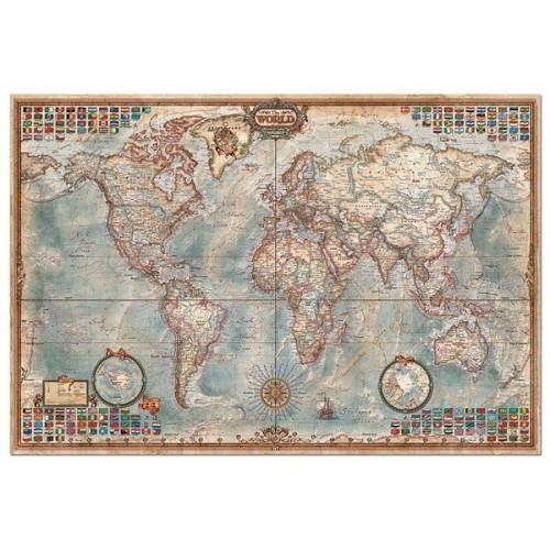 THE WORLD - EXECUTIVE MAP, Educa puzzle 4000 pc