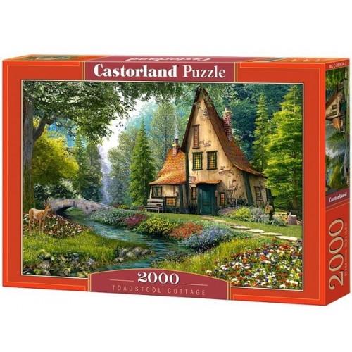 Erdei házikó, 2000 darabos Castorland puzzle