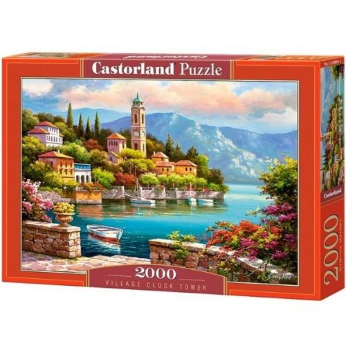 Village Clock Tower, Castorland puzzle 2000 pc