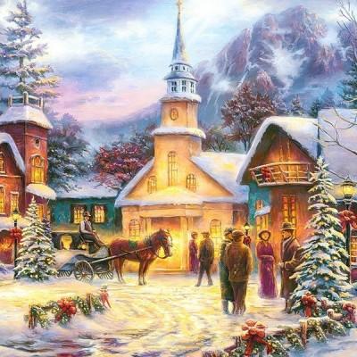 Karácsonyi este, Castorland puzzle 1500 db