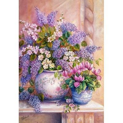 Lila virágok, Castorland puzzle 1500 db