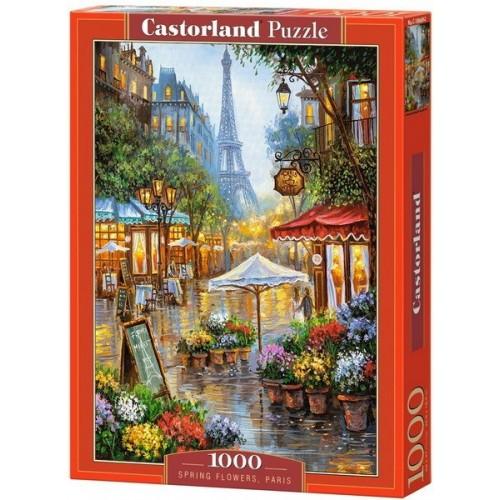 Tavaszi virágok - Párizs, 1000 darabos Castorland Puzzle