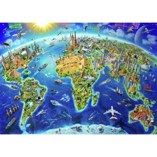 World Landmarks Globe, Educa Puzzle 2000 pc