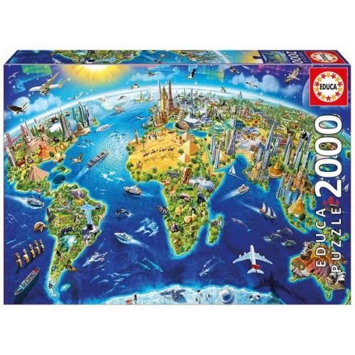 World Landmarks Globe, Educa Puzzle 2000 pc