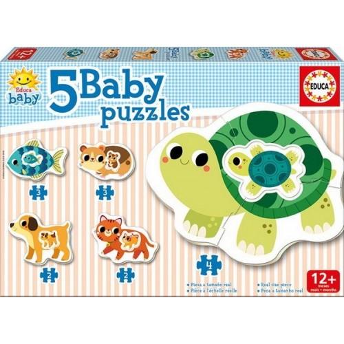 Állatok és állatbébik, Educa baba puzzle (2-3-4 darabos)