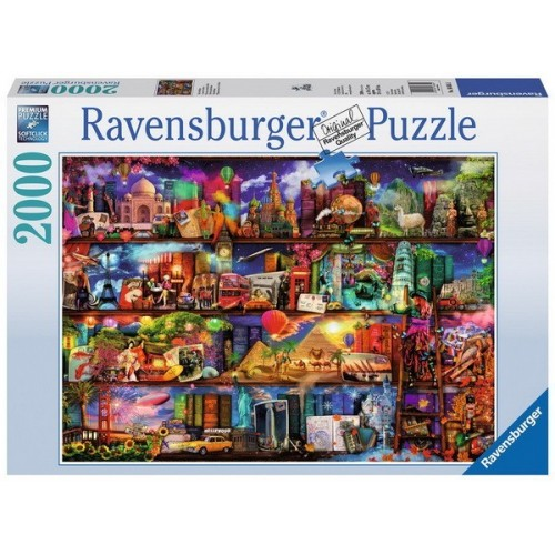 Könyvek világa, 2000 darabos  Ravensburger puzzle