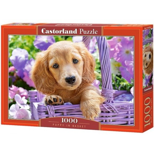 Puppy in Basket, Castorland Puzzle 1000 pc