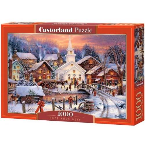 Karácsony este, 1000 darabos Castorland puzzle