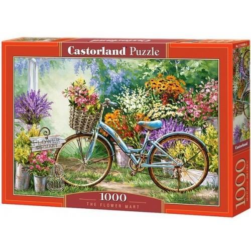 Virágpiac, 1000 darabos Castorland puzzle