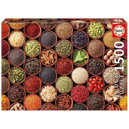 Fűszerek és gyógynövények, 1500 darabos Educa puzzle