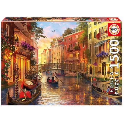 Sunset in Venice, Educa Puzzle 1500 pc