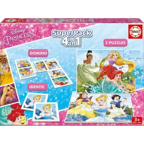 Disney Princess, Educa Superpack, 4 in 1 Game set