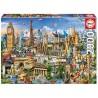 Európa nevezetességei, 2000 darabos Educa puzzle